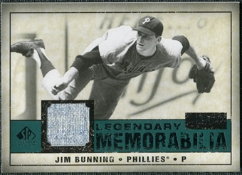 2008 Upper Deck SP Legendary Cuts Legendary Memorabilia Green #JB Jim Bunning /99