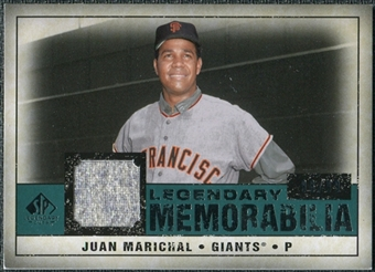 2008 Upper Deck SP Legendary Cuts Legendary Memorabilia Green Parallel #JU Juan Marichal /99