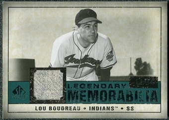 2008 Upper Deck SP Legendary Cuts Legendary Memorabilia Green Parallel #LB Lou Bourdeau /40