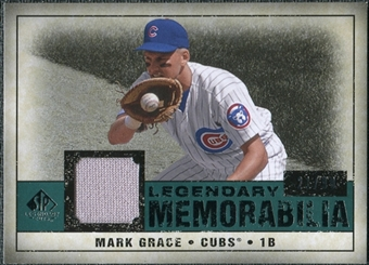 2008 Upper Deck SP Legendary Cuts Legendary Memorabilia Green Parallel #MG Mark Grace /99