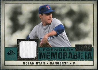 2008 Upper Deck SP Legendary Cuts Legendary Memorabilia Green Parallel #NR Nolan Ryan /99