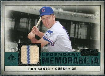 2008 Upper Deck SP Legendary Cuts Legendary Memorabilia Green Parallel #SA Ron Santo /99