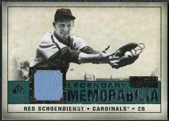 2008 Upper Deck SP Legendary Cuts Legendary Memorabilia Green Parallel #SC Red Schoendienst /99