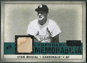 2008 Upper Deck SP Legendary Cuts Legendary Memorabilia Green Parallel #SM Stan Musial /99