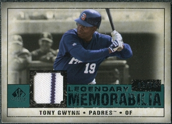 2008 Upper Deck SP Legendary Cuts Legendary Memorabilia Green Parallel #TG Tony Gwynn /99
