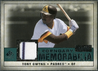 2008 Upper Deck SP Legendary Cuts Legendary Memorabilia Green #TG2 Tony Gwynn /99