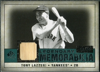 2008 Upper Deck SP Legendary Cuts Legendary Memorabilia Green Parallel #TL Tony Lazzeri /40