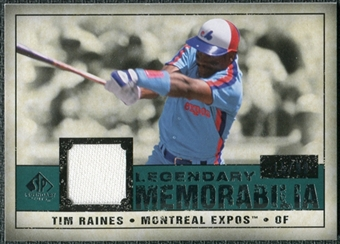 2008 Upper Deck SP Legendary Cuts Legendary Memorabilia Green Parallel #TR Tim Taines /99