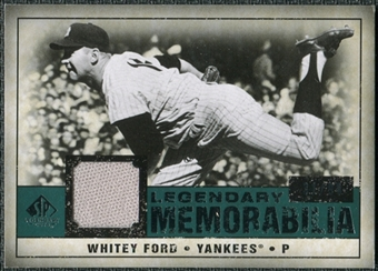 2008 Upper Deck SP Legendary Cuts Legendary Memorabilia Green Parallel #WF Whitey Ford /99