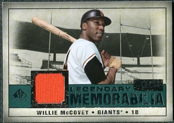 2008 Upper Deck SP Legendary Cuts Legendary Memorabilia Green Parallel #WM Willie McCovey /25