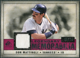 2008 Upper Deck SP Legendary Cuts Legendary Memorabilia Red #DM2 Don Mattingly /35