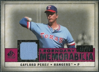 2008 Upper Deck SP Legendary Cuts Legendary Memorabilia Red Parallel #GP2 Gaylord Perry /35
