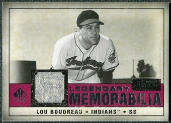 2008 Upper Deck SP Legendary Cuts Legendary Memorabilia Red Parallel #LB Lou Bourdeau /20