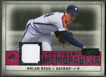 2008 Upper Deck SP Legendary Cuts Legendary Memorabilia Red #NR3 Nolan Ryan /35