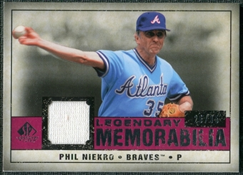 2008 Upper Deck SP Legendary Cuts Legendary Memorabilia Red #PN Phil Niekro /35