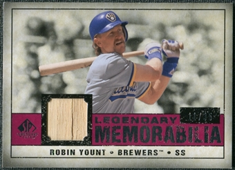 2008 Upper Deck SP Legendary Cuts Legendary Memorabilia Red Parallel #RY Robin Yount /35