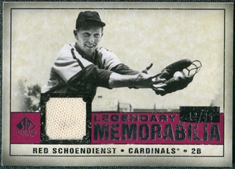 2008 Upper Deck SP Legendary Cuts Legendary Memorabilia Red Parallel #SC Red Schoendienst /35