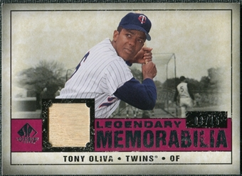 2008 Upper Deck SP Legendary Cuts Legendary Memorabilia Red Parallel #TO Tony Oliva /15