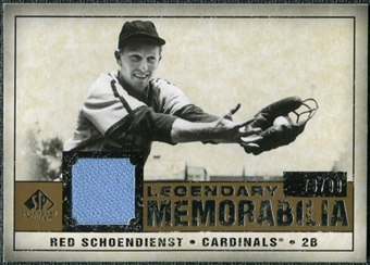 2008 Upper Deck SP Legendary Cuts Legendary Memorabilia #SC Red Schoendienst /99