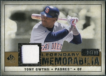 2008 Upper Deck SP Legendary Cuts Legendary Memorabilia #TG3 Tony Gwynn /99