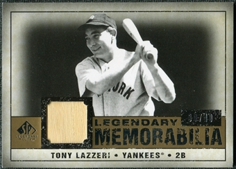 2008 Upper Deck SP Legendary Cuts Legendary Memorabilia #TL Tony Lazzeri 30/40
