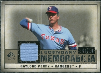 2008 Upper Deck SP Legendary Cuts Legendary Memorabilia Taupe #GP2 Gaylord Perry /10