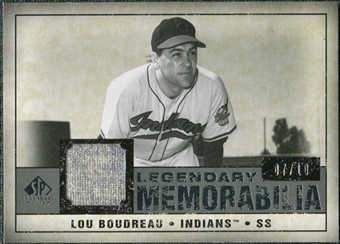 2008 Upper Deck SP Legendary Cuts Legendary Memorabilia Taupe #LB Lou Boudreau 7/10