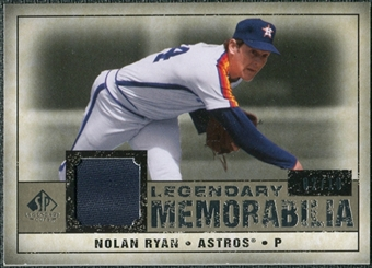 2008 Upper Deck SP Legendary Cuts Legendary Memorabilia Taupe #NR3 Nolan Ryan /10