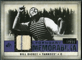 2008 Upper Deck SP Legendary Cuts Legendary Memorabilia Violet Parallel #BD Bill Dickey /30