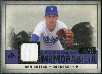 2008 Upper Deck SP Legendary Cuts Legendary Memorabilia Violet #DS Don Sutton /50