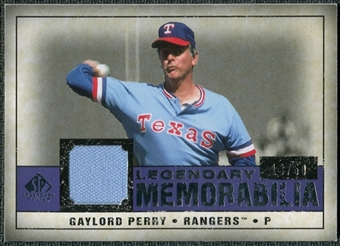 2008 Upper Deck SP Legendary Cuts Legendary Memorabilia Violet #GP2 Gaylord Perry /50