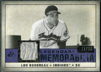 2008 Upper Deck SP Legendary Cuts Legendary Memorabilia Violet #LB Lou Bourdeau /20