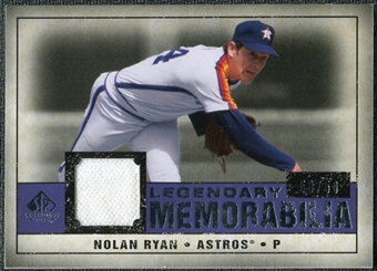 2008 Upper Deck SP Legendary Cuts Legendary Memorabilia Violet #NR3 Nolan Ryan /50