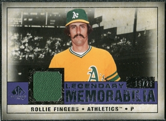2008 Upper Deck SP Legendary Cuts Legendary Memorabilia Violet #RF Rollie Fingers /25