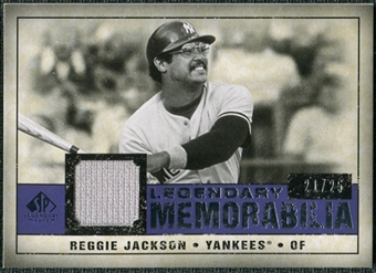 2008 Upper Deck SP Legendary Cuts Legendary Memorabilia Violet Parallel #RJ Reggie Jackson /25