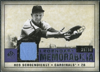 2008 Upper Deck SP Legendary Cuts Legendary Memorabilia Violet #SC Red Schoendienst /50