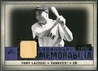2008 Upper Deck SP Legendary Cuts Legendary Memorabilia Violet #TL Tony Lazzeri /25