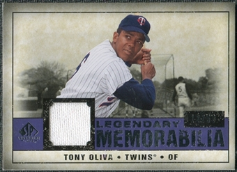 2008 Upper Deck SP Legendary Cuts Legendary Memorabilia Violet #TO Tony Oliva /50