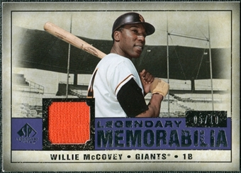 2008 Upper Deck SP Legendary Cuts Legendary Memorabilia Violet #WM Willie McCovey /10