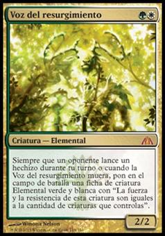 Magic the Gathering Dragon's Maze SPANISH Single Voice of Resurgence - SLIGHT PLAY (SP)