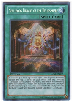 Yu-Gi-Oh Abyss Rising Single Spellbook Library of the Heliosphere Secret Rare