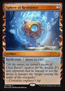 Magic the Gathering Kaladesh Inventions Single Sphere of Resistance Foil NEAR MINT (NM)