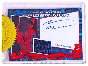 The Amazing Spider-Man Movie Garfield Autographed Costume Card (Rittenhouse 2012)
