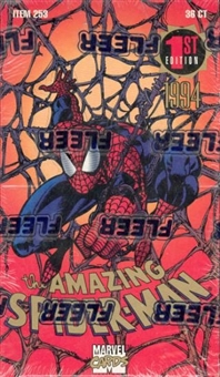 The Amazing Spiderman 1st Edition Hobby Box (1994 Fleer)