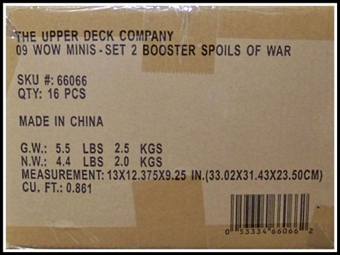 World of Warcraft Miniatures Spoils of War Booster Case (16 Ct) 66066