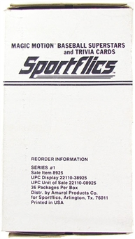 1986 Sportflics Baseball Wax Box