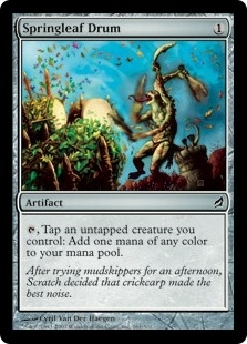 Magic the Gathering Lorwyn Single Springleaf Drum Foil