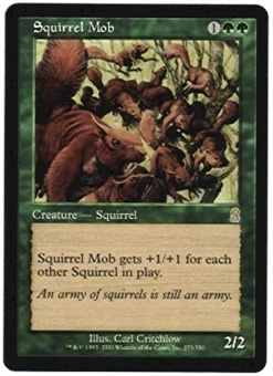 Magic the Gathering Odyssey Single Squirrel Mob Foil