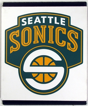 Seattle Sonics 2004 NBA Draft Board Team Logo Panels