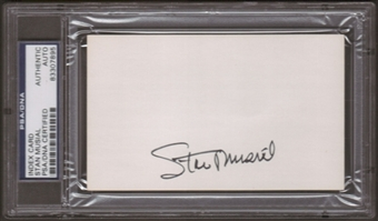 Stan Musial Autograph (Index Card) PSA/DNA Certified *7895